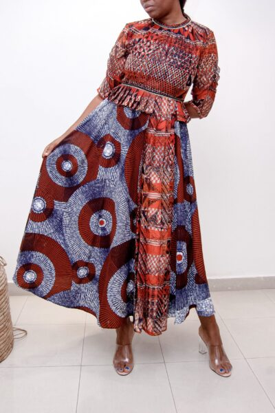 Nigerian designer ready to wear dress.